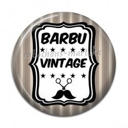 Cabochon Résine - barbu vintage