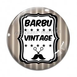 Cabochon Verre - barbu vintage