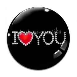 Cabochon Verre - i love you