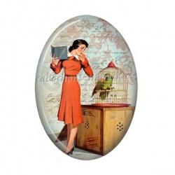 Cabochon Résine Ovale - femme