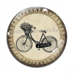 Cabochon Verre - vélo