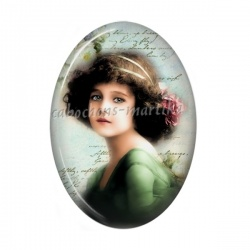 Cabochon Résine Ovale - petite fille