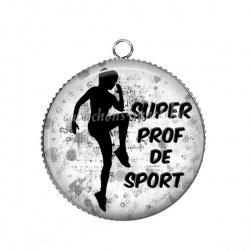 Pendentif Cabochon Argent - super prof de sport