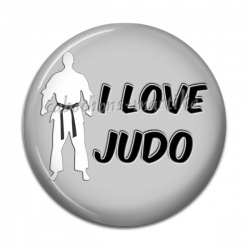 Cabochon Résine - i love judo