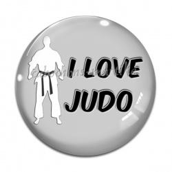 Cabochon Verre - i love judo