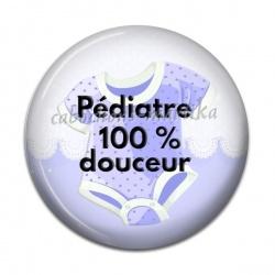 Cabochon Résine - pédiatre 100% douceur