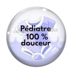 Cabochon Verre - pédiatre 100% douceur