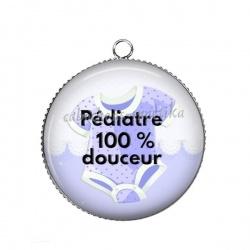 Pendentif Cabochon Argent - pédiatre 100% douceur