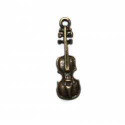 Breloque violon métal bronze