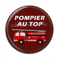 Cabochon Résine - pompier au top