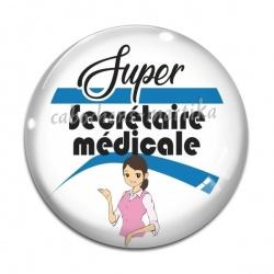 Cabochon Verre - super secrétaire médicale