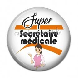 Cabochon Résine - super secrétaire médicale