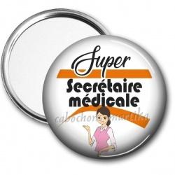 Miroir de poche - super secrétaire médicale