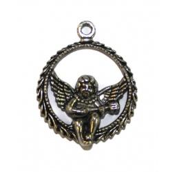 1 breloque ange métal argent
