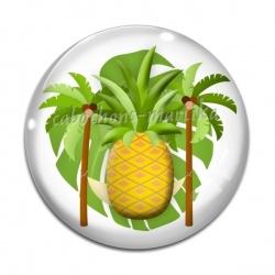 Cabochon Verre - ananas