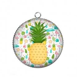 Pendentif Cabochon Argent - ananas
