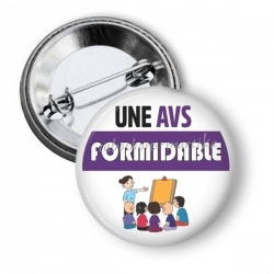 Badge - une avs formidable
