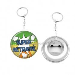Porte clés décapsuleur - super retraité