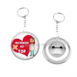 Porte clés décapsuleur - infirmier au top