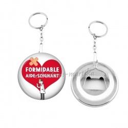 Porte clés décapsuleur - formidable aide-soignant