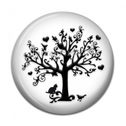 Cabochon Résine - arbre
