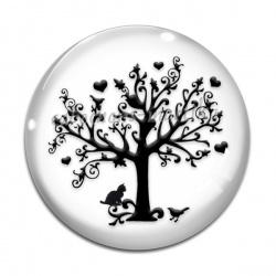 Cabochon Verre - arbre