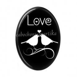 Cabochon Résine Ovale - love