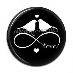 Cabochon Résine - love infini