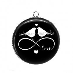 Pendentif Cabochon Argent - love infini
