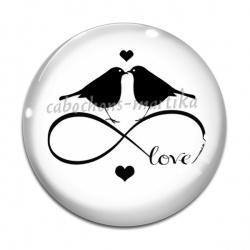Cabochon Verre - love infini