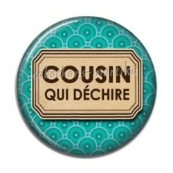 Cabochon Résine - cousin qui déchire