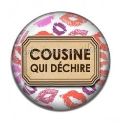 Cabochon Résine - cousine qui déchire