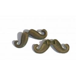 1 connecteur moustache métal bronze