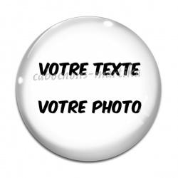 Cabochon Verre - votre texte