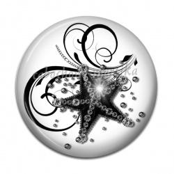 Cabochon Résine - étoile de mer