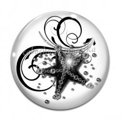Cabochon Verre - étoile de mer