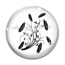 Cabochon Verre - plume