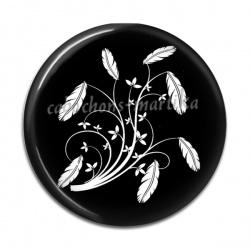 Cabochon Résine - plume