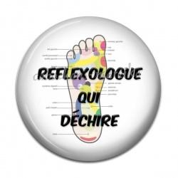 Cabochon Résine - reflexologue qui dechire