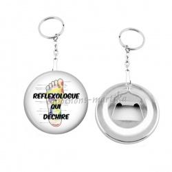 Porte clés décapsuleur - reflexologue qui dechire