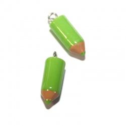 1 breloque crayon vert