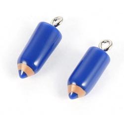 1 breloque crayon bleu