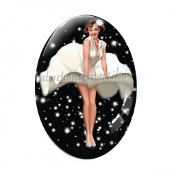 Cabochon Verre Ovale - pin up