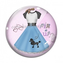Cabochon Verre - robe pin up