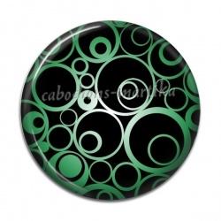 Cabochon Résine - rond spirale