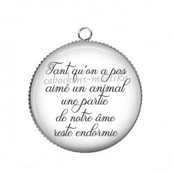 Pendentif Cabochon Argent - proverbe