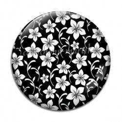 Cabochon Verre - fleur