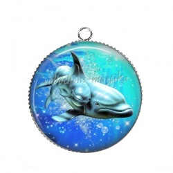 Pendentif Cabochon Argent - daufin