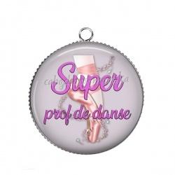 Pendentif Cabochon Argent - super prof de danse