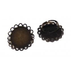 bague métal bronze pour cabochon 25 mm